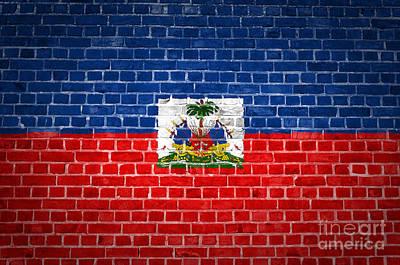Brick Wall Haiti Poster