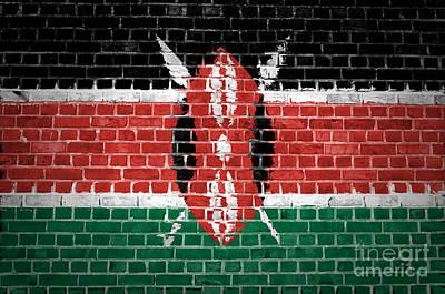 Brick Wall Kenya Poster