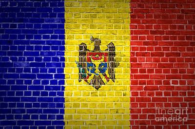 Brick Wall Moldova Poster