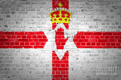 Brick Wall Northern Ireland Poster by Antony McAulay