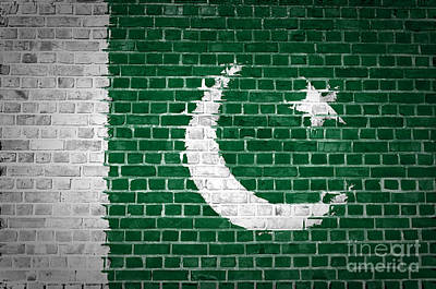 Brick Wall Pakistan Poster