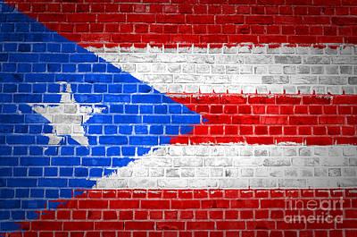 Brick Wall Puerto Rico Poster
