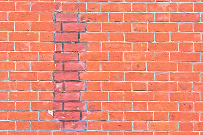 Brick Wall Repair Poster by Tom Gowanlock