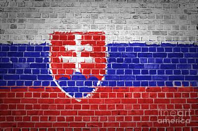 Brick Wall Slovakia Poster