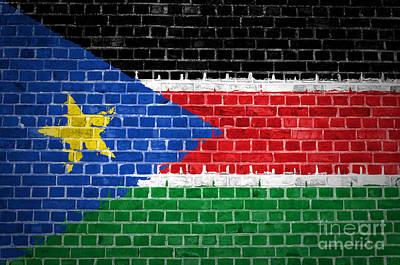 Brick Wall South Sudan Poster