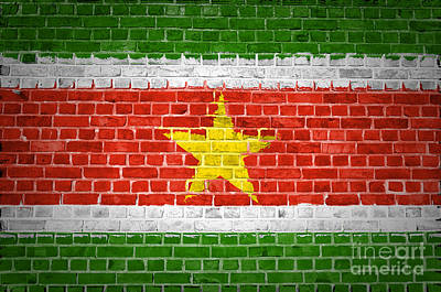 Brick Wall Suriname Poster