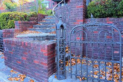 Poster featuring the photograph Brick Wall With Wrought Iron Gate by Janette Boyd
