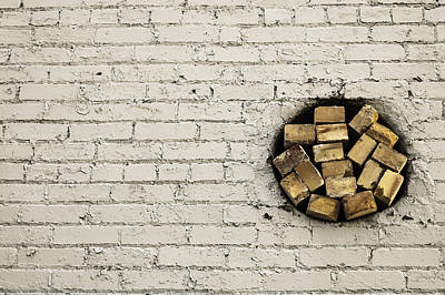 Bricks In The Wall - Abstract Poster