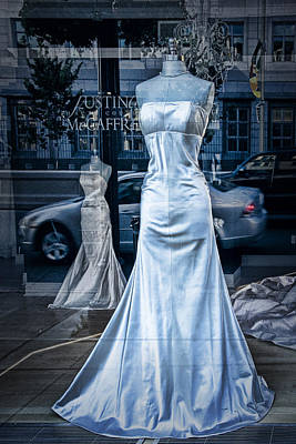 Bridal Dress Window Display In Ottawa Ontario Poster by Randall Nyhof