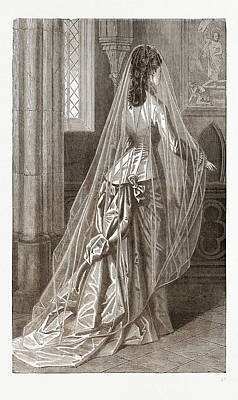 Bridal Toilette, 19th Century  Fashion Poster by Litz Collection