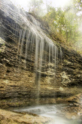 Bridal Veil Falls - Heber Springs Arkansas Poster by Jason Politte