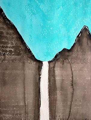Bridal Veil Falls Original Painting Sold Poster by Sol Luckman