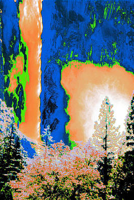Bridalveil Fall Abstract Poster