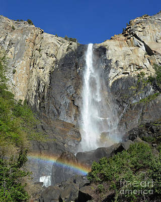 Bridalveil Falls With Rainbow Poster