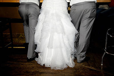 Poster featuring the photograph Bride At The Bar by Courtney Webster