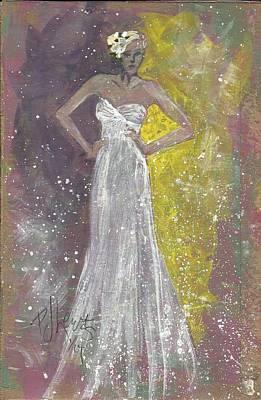 Bride Deciding Poster by P J Lewis