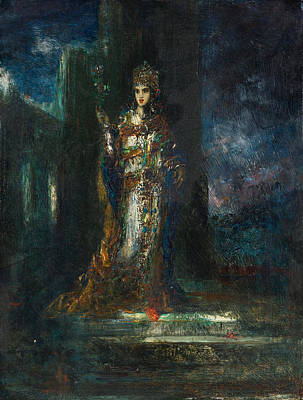 Bride Of The Night Also Known As The Song Of Songs Poster by Gustave Moreau