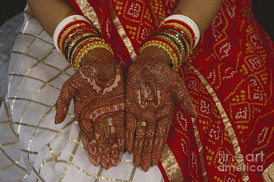 Brides Hands India Poster by Dhiraj Chawda