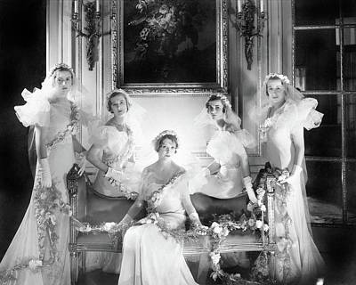 Bridesmaids For The Wedding Of Sir Hugh Houston Poster by Cecil Beaton