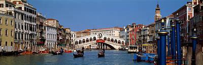 Bridge Across A Canal, Rialto Bridge Poster