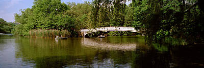 Bridge Across A Lake, Central Park Poster by Panoramic Images