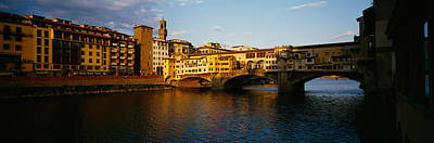 Bridge Across A River, Arno River Poster by Panoramic Images