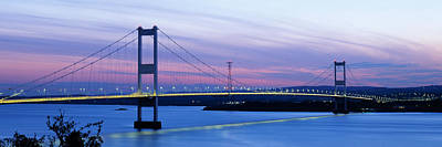 Bridge Across A River At Dusk, Severn Poster by Panoramic Images
