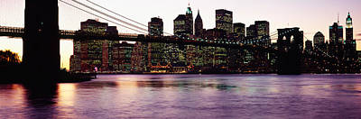 Bridge Across A River, Brooklyn Bridge Poster by Panoramic Images