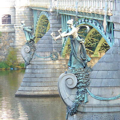 Poster featuring the photograph Bridge Adornment In Prague by Kay Gilley