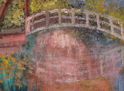 Poster featuring the mixed media Bridge After Monet by Diana Riukas