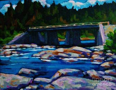 Bridge At Liscomb Nova Scotia Poster by John Malone