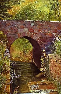 Bridge At Manitou Springs Poster