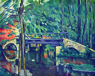 Bridge In The Forest By Cezanne Poster