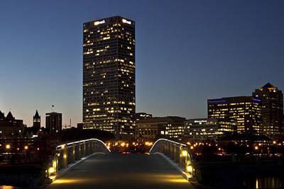 Poster featuring the photograph Bridge Into Milwaukee by Deborah Klubertanz