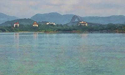 Bridge Of The Americas From Casco Viejo - Panama Poster