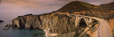Bridge On A Hill, Bixby Bridge, Big Poster by Panoramic Images
