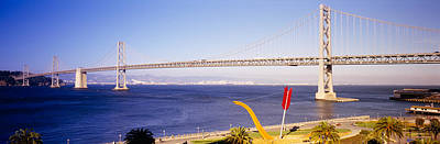 Bridge Over An Inlet, Bay Bridge, San Poster