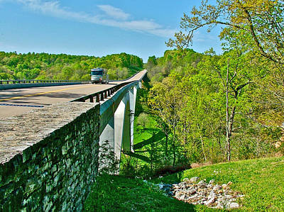 Bridge Over Birdsong Hollow At Mile 438 Of Natchez Trace Parkway-tennessee Poster