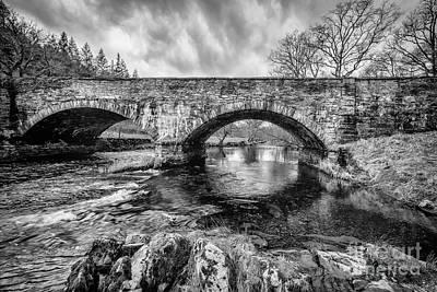 Bridge Over Llugwy Poster by Adrian Evans