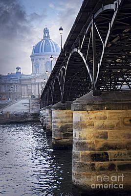 Bridge Over Seine In Paris Poster by Elena Elisseeva