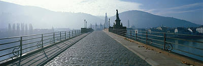 Bridge Over The Neckar River Poster
