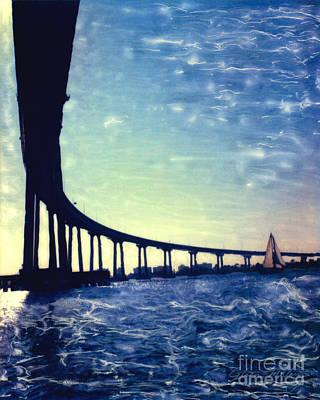 Bridge Shadow - Vertical Poster