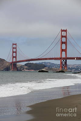 Bridge The Golden Gate Poster by Christiane Schulze Art And Photography