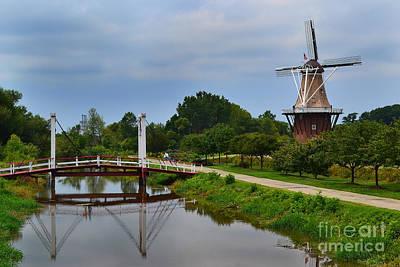 Bridge To Holland Windmill Poster