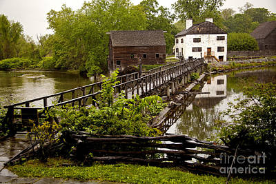 Poster featuring the photograph Bridge To Philipsburg Manor Mill House by Jerry Cowart