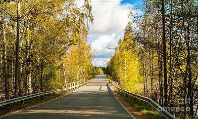 Bridge To Pretty Autumn Day Poster