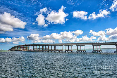 Bridge To South Padre Poster by Tod and Cynthia Grubbs