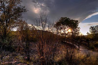 Bridge To Sunset Poster