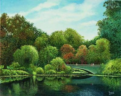 Poster featuring the painting Bridges Of Forest Park by Michael Frank