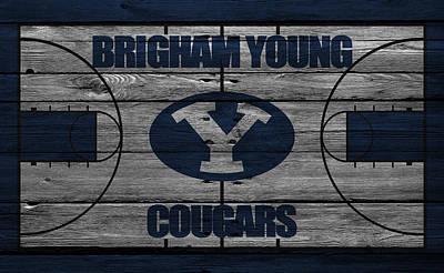 Brigham Young Cougars Poster by Joe Hamilton